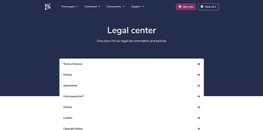 Legal page preview